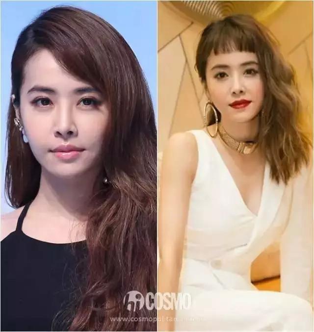 72变少不了发型的改变,蔡公主中长发与狗啃刘海儿的搭配表示没在怕.