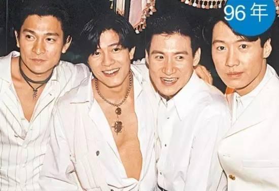 四大天王,左起:刘德华、郭富城、张学友、黎明