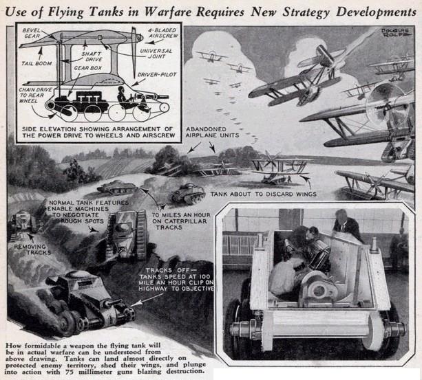 美国人脑洞设计:飞翔坦克和飞翔炮塔,吉恩公国