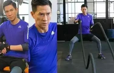 张家辉为了拍摄电影《激战》也操练战绳虐肌肉