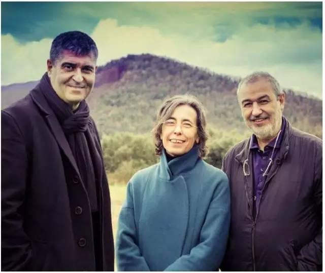 拉斐尔·阿兰达,卡莫·皮格姆和拉蒙·比拉尔塔(Javier Lorenzo Domínguez 摄)