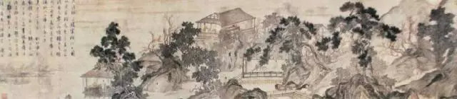 唐寅 江南春图 广州美术馆藏 31.5×146cm