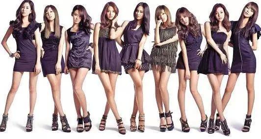 图为韩国女子组合少女时代