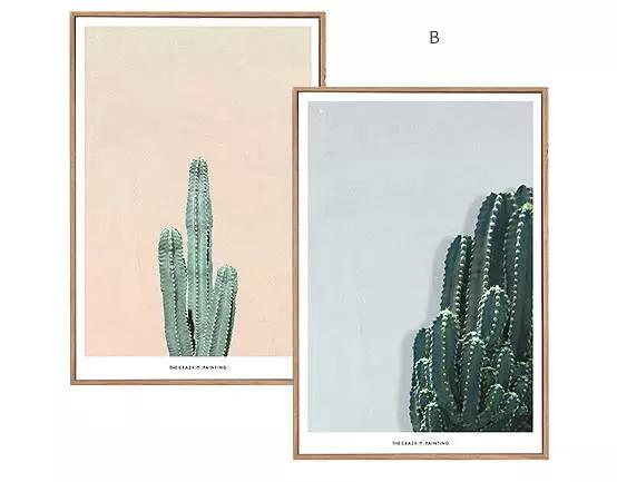 装饰画:北欧风格比较适合绿植类,几何色彩类,卡通动物类,英文字母类