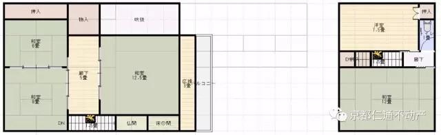 町屋两层结构图