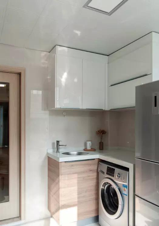 嵌入式洗衣机设计,可以有效节约空间图片