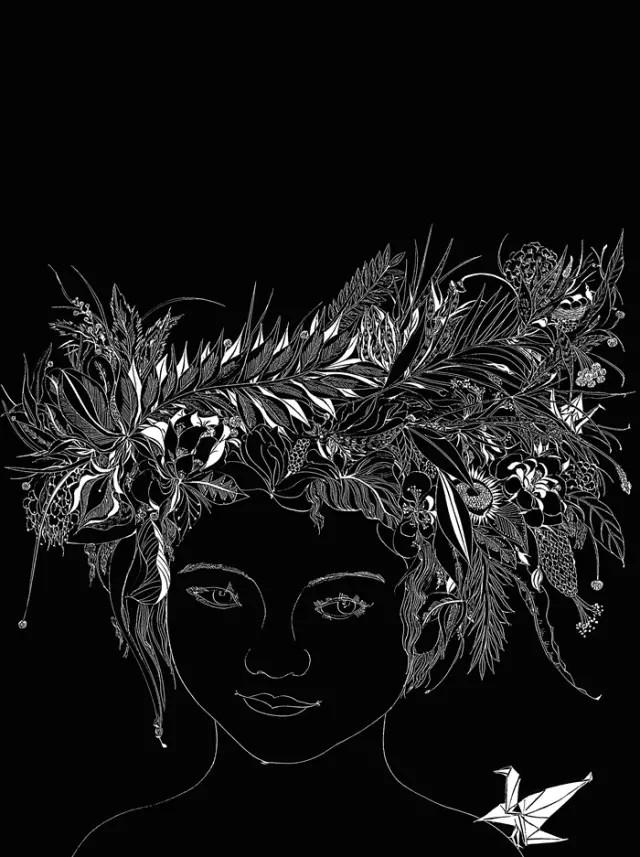 黑白激光雕刻图案素材