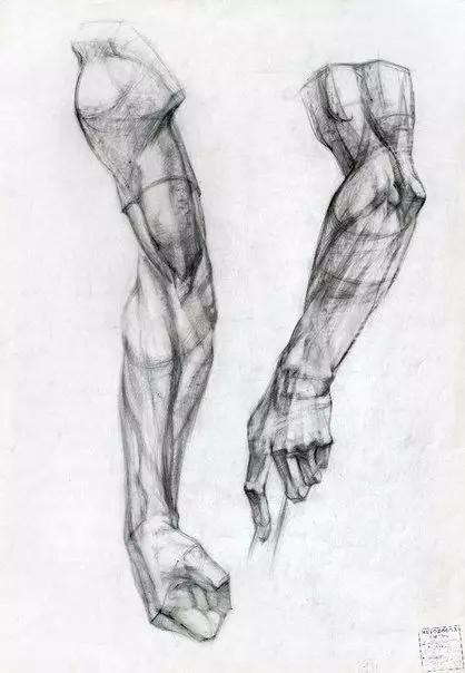 石膏脚素描步骤
