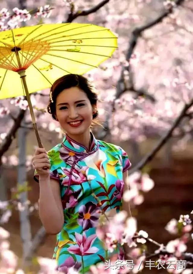 花下有约 百人旗袍 书画桃花会诚邀您的加入图片