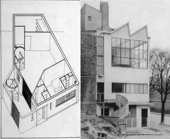 Ozenfant House and Studio, Paris, France, Le Corbusier, 1922