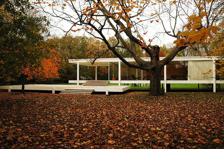 Farnsworth House, Plano, Illinois, Mies van der Rohe, 1945-1951