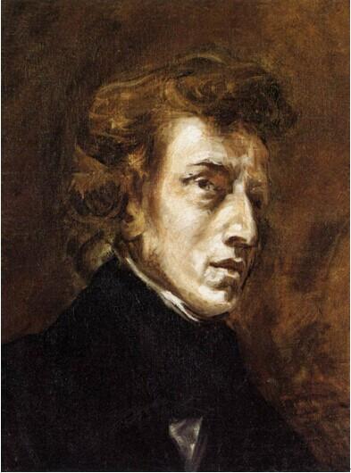 德拉克罗瓦《肖邦画像》